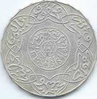 Morocco - AH1318 (1901) - Abd Al-Aziz - 5 Dirhams / ½ Rial - Paris - KMY12.2 - Edge Has Raised Stars - Marocco