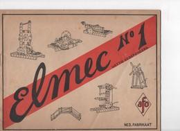 ELMEC, Notice En Néerlandais N°1 De Constructions Avec Modèles Et Indication Des Pièces - Autres Collections