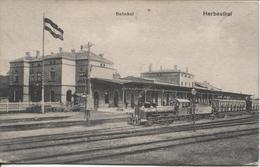 REF1045/ CP Cantons De L'Est  Herbesthal Bahnhof - La Gare Train à L'arrêt - Lontzen