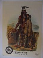 Indianer, Werbung Büffel Glanz Beize, Häuptling Der Mönnitarris  - Native Americans