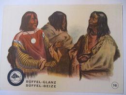 Indianer, Werbung Büffel Glanz Beize, Häuptlinge Der Blut Und Piekann  - Native Americans