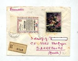Lettre Recommandee Eguingamp Sur Gericault Appel De Gaulle - Postmark Collection (Covers)