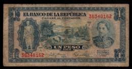 Colombie - 1 Billet De Un Peso Oro (1) - 1953 (verso Voir Scan) - Colombia