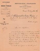 1895 SOUDAN FRANÇAIS - Affaires Indigènes - KAYS Le Gouverneur Au Commandant De La Région Sud - - Historische Dokumente