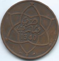 Morocco - Yusuf - AH1340 (1922) - 10 Mazunas - Poissy Mint - KMY29.2 - Marocco