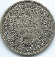 Morocco - Mohammed V - AH1372 (1953) - 100 Francs - KMY52 - Marocco
