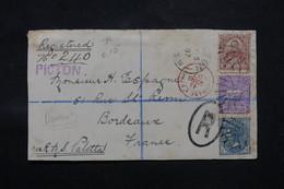 NEW SOUTH WALES - Enveloppe (devant) En Recommandé De Picton Pour La France En 1897, Affranchissement Plaisant - L 59097 - Briefe U. Dokumente