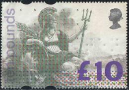 GB 1993 Yv. N°1664 - 10£ Britannia - Oblitéré - Gebraucht