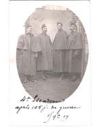 Carte Photo Militaire - 4 Cavaliers  4e Escadron 19e Chasseurs Ou Dragons ( ?) Après 105 J De Guerre 15 09 14 - 1914-18