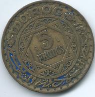 Morocco - Mohammed V - 5 Francs - AH1365 (1946) - KMY43 - Morocco