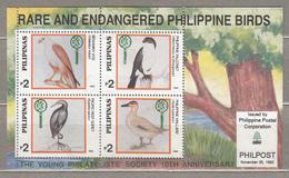 BIRDS Vogel Oiseaux Philippines 1992 Mi Bl 55 MNH (**) #21044 - Birds