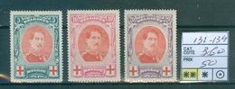 132-134 Xx Super  Côte 360€ - 1914-1915 Rode Kruis