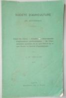 42 LOIRE MONTBRISON CANAL DU FOREZ 1877 DOCUMENT HISTORIQUE SOCIÉTÉ D'AGRICULTURE - Rhône-Alpes