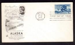 IZ732   USA 1969  ALASKA STATEHOOD  -  Scott # C53 FDC - 1951-1960