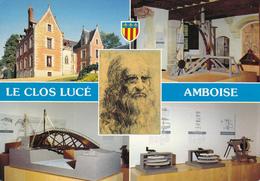 37 AMBOISE / LE CLOS LUCE / MULTIVUES AVEC PORTRAIT LEONARD DE VINCI - Amboise