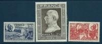 """FR YT 606 607 608 """" Anniversaire Du Maréchal Pétain """" 1944 Neuf* - France"""