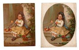 2 Chromos Testu & Massin, 13-49, Enfant Avec Cage De Oiseaux - Chromos