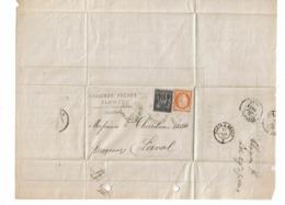 CTN61/A - CERES SIEGE 40c N°38 + SAGE 10c N°89 SUR LE SILLE LE GUILLAUME 11/7/1877 - 1870 Siège De Paris