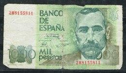 Billete España De 1000 Pts. Identificado Como FALSO. - Spagna