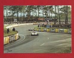 """72 - LE MANS -  COURSE AUTOMOBILE - CIRCUIT DES 24 HEURES -  LES """"S"""" DU TERTRE ROUGE -  TAMPON 1969 - Le Mans"""