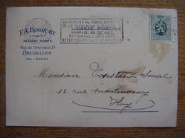 Courrier Facture De La Manufacture De Papiers Peints F A Bosquet - Rue De L'Intendant, 13 à BRUXELLES - Belgique