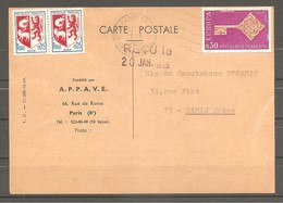 FRANCE 1968. Carte Postale APPAVE Affranchie Avec Y&T N°1556 + 2 X 1468. TB - Frankreich