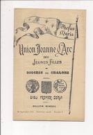 """Bulletin Mensuel """"Union Jeanne D'Arc"""" Des Jeunes Filles Du Diocèse De CHALONS-sur-MARNE  (Septembre 1924) - Documents Historiques"""