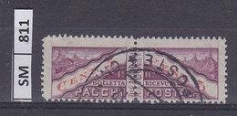 SAN MARINO  1945Pacchi Postali La Coppia Cent 5 Usati - Colis Postaux