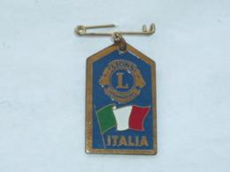 BROCHE LION'S CLUB INTERNATIONAL, ITALIE - Associations