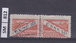 SAN MARINO  1945Pacchi Postali La Coppia Cent 10 Usati - Colis Postaux
