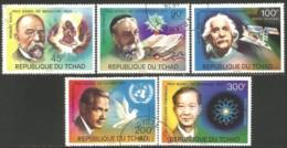 855 Tchad Nobel Medecine Koch Physique Physics Einstein Tomanaga Peace Paix Hammarskjold (TCD-18) - Medicine