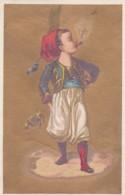 Chromo AU BON MARCHE - Dorure -impt Freon Passage Du Caire Paris - Enfant Qui Fume La Pipe (lot Pat 109) - Au Bon Marché