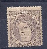 200034482  ESPAÑA   EDIFIL   Nº  102  */MH - 1870-72 Régence