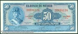 TWN - MEXICO 49u4 - 50 Pesos 29.12.1972 Serie BQO - Prefix D UNC - Messico