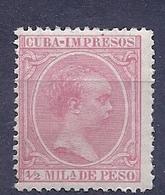 200034504  CUBA  ESPAÑA   EDIFIL   Nº  130  **/MNH - Cuba (1874-1898)
