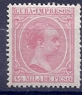 200034506  CUBA  ESPAÑA   EDIFIL   Nº  130  **/MNH - Cuba (1874-1898)