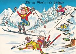 """Thèmes  Illustrateur Sport D'hiver Montagne Journée Au Ski """" Ski De Fond ..... De Culotte """" - Andere Zeichner"""