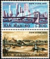 1973 - SAN MARINO - NEW YORK - 876/77 -  NUOVI - MNH - Nuovi