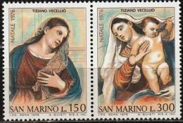 1976 - SAN MARINO - NATALE  - 973/74 -  NUOVO - MNH - Nuovi