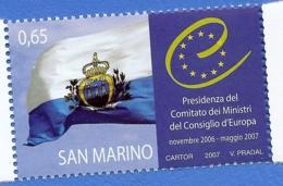2007 - SAN MARINO -  PRESIDENZA CONSIGLIO EUROPEO - 2133  -  NUOVO - MNH - Nuovi