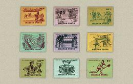 Hungary 1965. History Of The Tennis Nice Set MNH (**) Michel: 2127-2135 / 4.50 EUR - Tennis