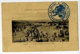 Campagne Du Maroc, Colonne Des Tadla CACHET Fm SUR CPA - Marcophilie (Lettres)
