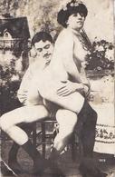 Carte-Photo De Scène Porno Début 20° - Nus Adultes (< 1960)