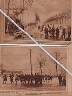 BREE..1929.. HET KANAAL IN BREE MET EEN DIKKE IJSKORST BEDEKT SINDS 1917 GELEDEN - Non Classés