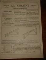 La Semaine Des Constructeurs. N°32. 8 Février 1879. Asile D'aliénés De Montdevergues. Vaucluse. Différentes Briques. - Livres, BD, Revues