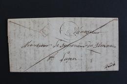LAC LUCON  CAD 19/02/1850 POUR LUCON MARQUE PP DANS UN RECTANGLE ROUGE ... - Marcophilie (Lettres)