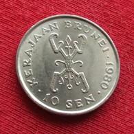 Brunei 10 Sen 1980 KM# 17 *V2 - Brunei