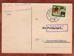 Post-Adressen-Anfrage, Wolf Und Die Sieben Geisslein, Pirmasens Nach Wuppertal-Barmen, Zurueck 1964 (93457) - Covers & Documents