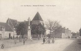 18 /  Ainay Le Vieil :   Place De L'église    ///  Avril 20 //   BO. 18 - Ainay-le-Vieil