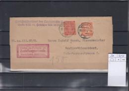 Deutsche Reich Michel Kat,Nr. Dienst Brief 20 MiF - Service